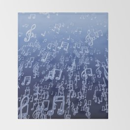 Aquatic Chords Throw Blanket