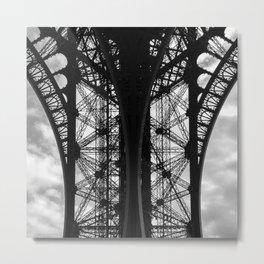 Eiffel in Symmetry Metal Print