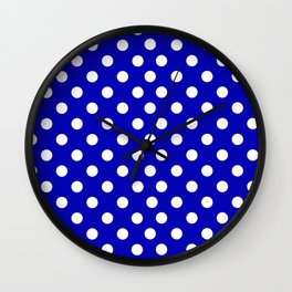 Blue Polka Wall Clock
