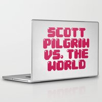 scott pilgrim Laptop & iPad Skins featuring Scott Pilgrim vs. The World by Martin Lucas