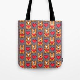 Cute corgi dog Tote Bag