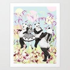 Panda Dance Art Print