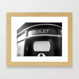 Le Toilet Framed Art Print