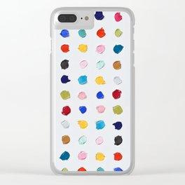 Polka Daubs Clear iPhone Case