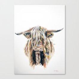 HIGHLAND BULL // STAY WILD Canvas Print