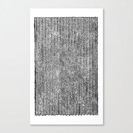 Stockinette Black Canvas Print