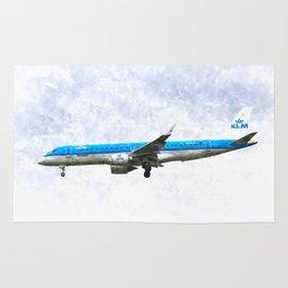 KlM Embraer 190 Rug