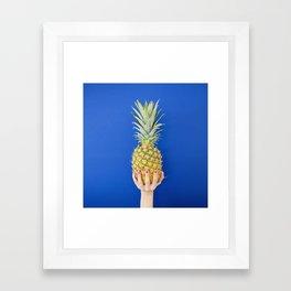 Blue Pineapple Framed Art Print