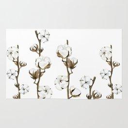 Cotton flowers Rug