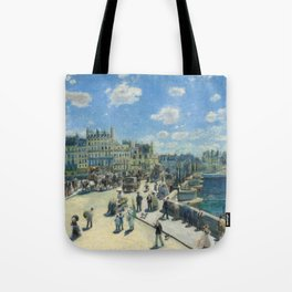 Pont Neuf Paris Painting by Auguste Renoir Tote Bag