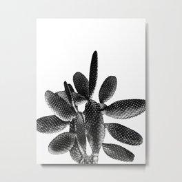 Black White Cactus #1 #plant #decor #art #society6 Metal Print