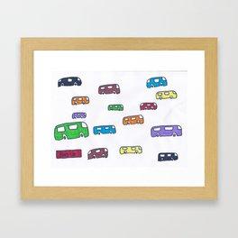 Bus-y Framed Art Print