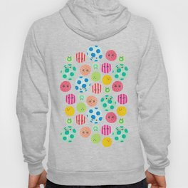 Colored Faces Hoody
