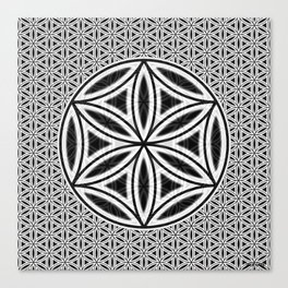 Flower Of Life - Friendship Canvas Print