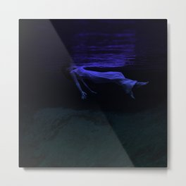 Rising To The Top : Deep Blue Water Photograph Metal Print
