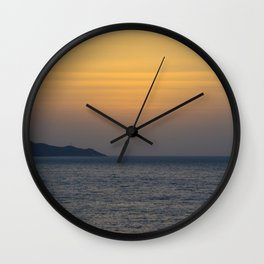 Sunset in Greece Wall Clock