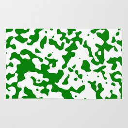 Spots - White and Green Rug