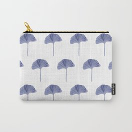 Blue Ginko Leaf - Minimalist Nature Carry-All Pouch