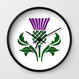 Scottish emblem thistle Wall Clock