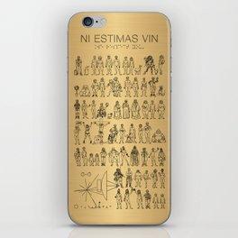 The Postmodern Pioneer Plaque iPhone Skin
