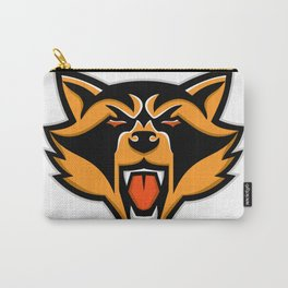 Angry Raccoon Head Mascot Carry-All Pouch