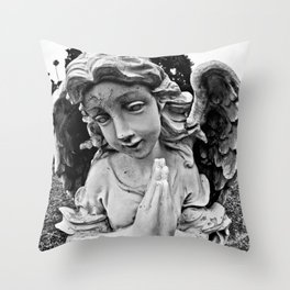 Cracked angel Throw Pillow