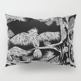 Japanese Birds Inverted Pillow Sham