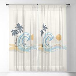 Minimalistic Summer II Sheer Curtain