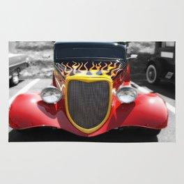Car Hot Wheels Flames photography Rug