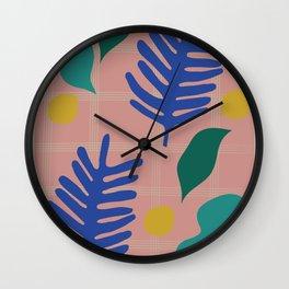 Tropical Blue Palm Cut-Out Wall Clock