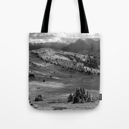 Wilderness Ahead Black-and-White Tote Bag