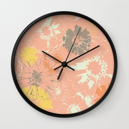 Late Summer Peach Wall Clock