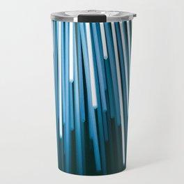 Hyperspace Fiber Optics Blue white Streaks Of Light Travel Mug