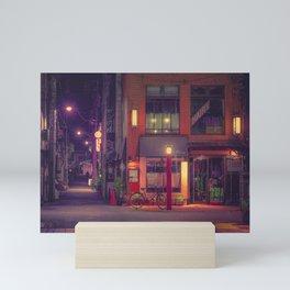Adventure Around the Corner/ Japan Tokyo Night Photo Mini Art Print