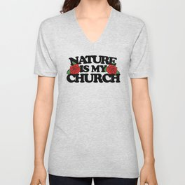 Nature is my church Unisex V-Neck