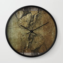 Elephants Wall Clock