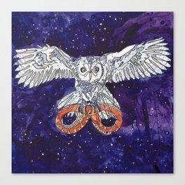 Owl & Snake Canvas Print