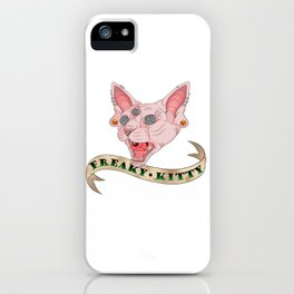 Freaky Kitty iPhone Case