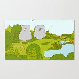 Park & Radiation Canvas Print