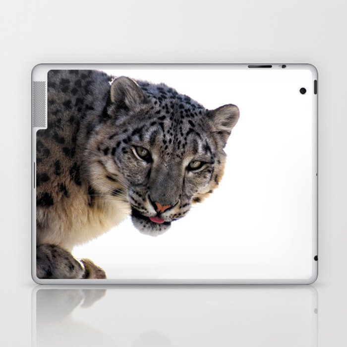 Léopard des neiges Laptop & iPad Skin