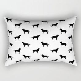 Black Labrador Retriever Silhouette Rectangular Pillow