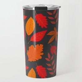Red autumn leaves Travel Mug