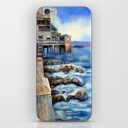 Walking with Steinbeck on Cannery Row iPhone Skin