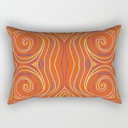 orange squiggles and spirals Rectangular Pillow