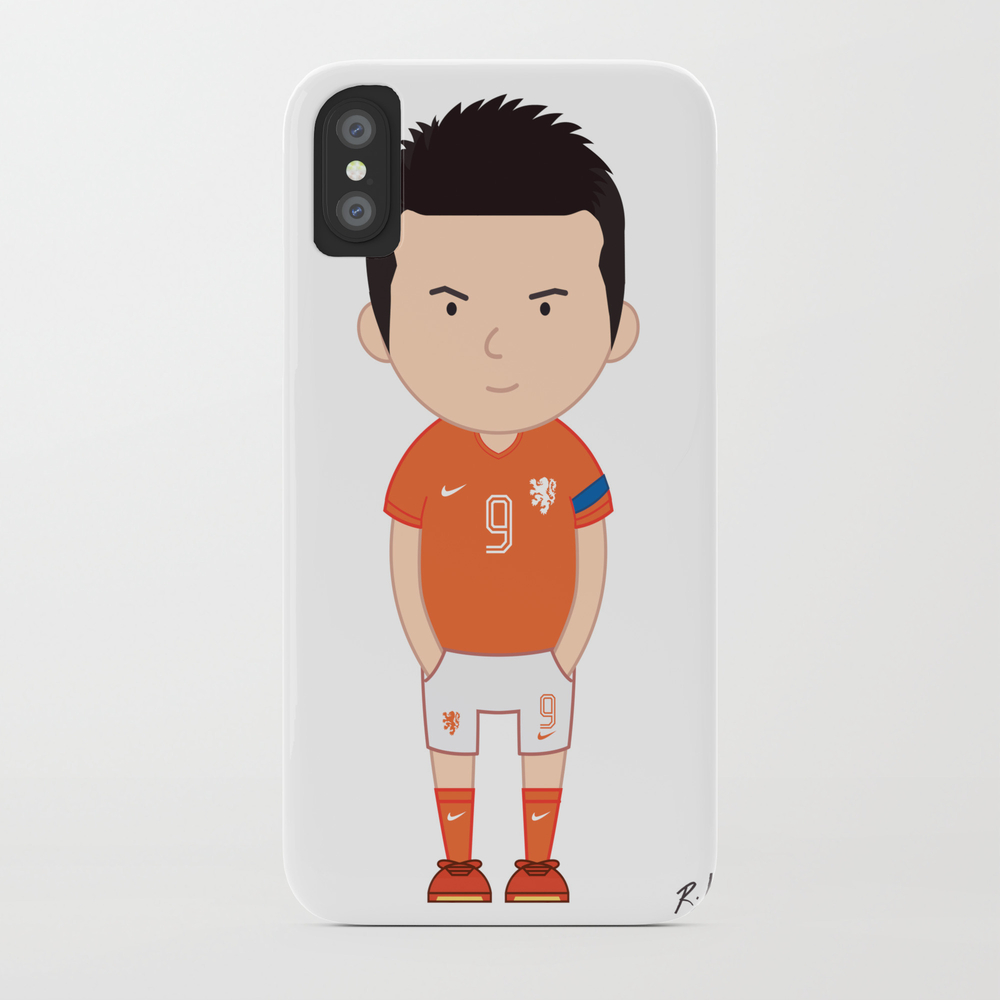 Robin Van Persie - Netherlands - World Cup 2014 Phone Case by Toonsoccer PCS9019159