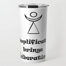 Simplification brings Liberation Travel Mug