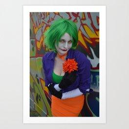 Femme Joker - Nice Flower Art Print