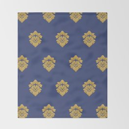 Free Marches (Blue) Throw Blanket