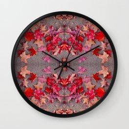 Oregon fall 3 geometry III Wall Clock