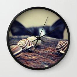 Cat Snails Wall Clock